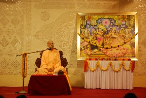 Radhanath Swami speaking